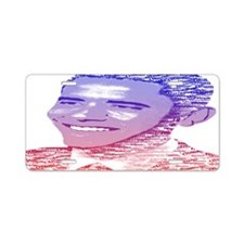 Obama14.7x9.67 Painted Name Aluminum License Plate