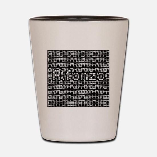 Alfonzo, Binary Code Shot Glass