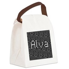 Alva, Binary Code Canvas Lunch Bag
