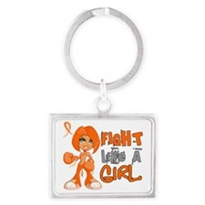 D FLAG Kidney Cancer 42.8 Landscape Keychain