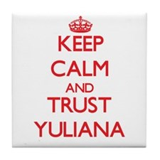 Keep Calm and TRUST Yuliana Tile Coaster