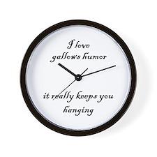 Gallows Humor Wall Clock