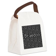 Braedon, Binary Code Canvas Lunch Bag