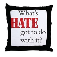 HateT10x10 Throw Pillow