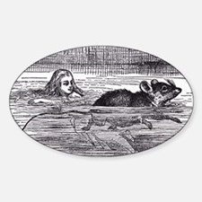 Alice and the Mouse Oval Decal