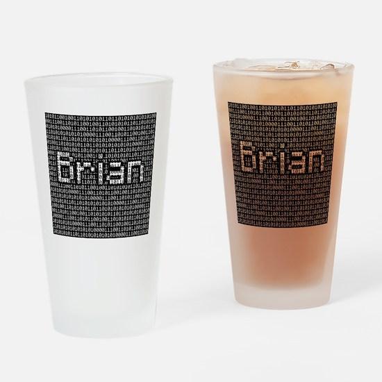 Brian, Binary Code Drinking Glass