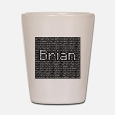Brian, Binary Code Shot Glass