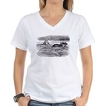 Alice and the Mouse Women's V-Neck T-Shirt
