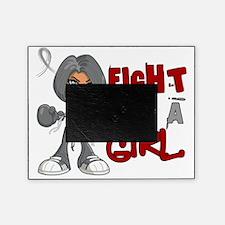 D Brain Cancer FLAG 42.8 Picture Frame