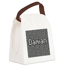 Damian, Binary Code Canvas Lunch Bag