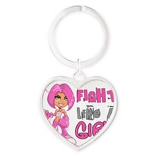 - Breast Cancer FLAG 42.8 Heart Keychain