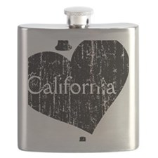 Vintage I heart California Flask