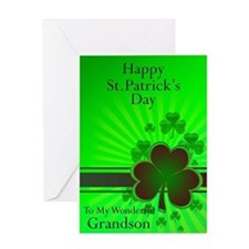 Happy St Patricks day card for your grandson Greet