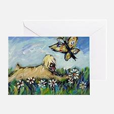 Wheaten Terrier butterfly Greeting Card