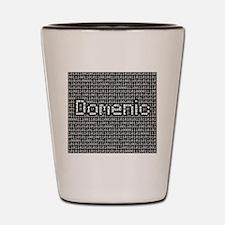 Domenic, Binary Code Shot Glass