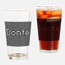 Donte, Binary Code Drinking Glass