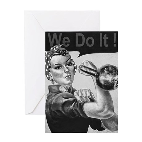 We Can Do It Kettlebells Greeting Card