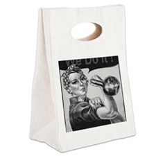 We Can Do It Kettlebells Canvas Lunch Tote