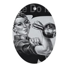 We Can Do It Kettlebells Oval Ornament