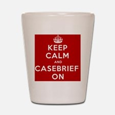 Keep Calm and Casebrief On Drinkware Shot Glass