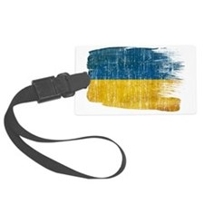 Ukrainetex3-paint style aged cop Luggage Tag