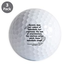 Marx Relations Quote Golf Ball