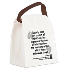 Marx Relations Quote Canvas Lunch Bag