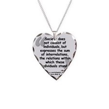 Marx Relations Quote Necklace