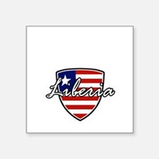 "liberia1 Square Sticker 3"" x 3"""