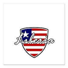 "liberia1 Square Car Magnet 3"" x 3"""