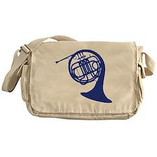blue french horn Messenger Bag