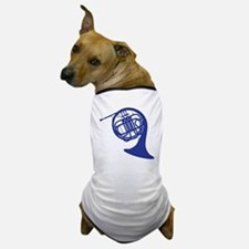 blue french horn Dog T-Shirt