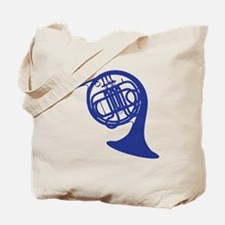 blue french horn Tote Bag