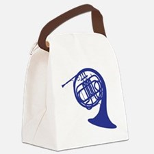 blue french horn Canvas Lunch Bag