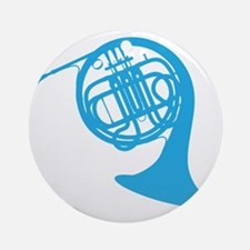 french horn Round Ornament