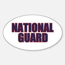 NATIONAL GUARD Oval Decal