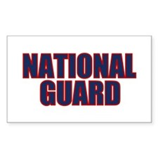 NATIONAL GUARD Rectangle Decal