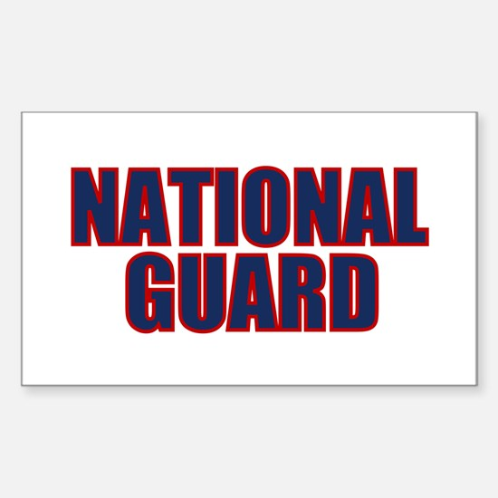 NATIONAL GUARD Rectangle Decal