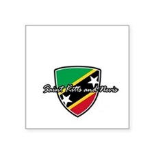 """saint kitts and nevis1 Square Sticker 3"""" x 3"""""""