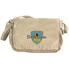 saint lucia1 Messenger Bag