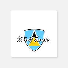 """saint lucia1 Square Sticker 3"""" x 3"""""""