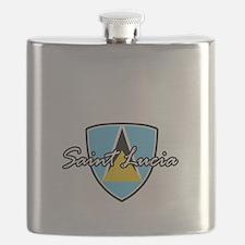 saint lucia1 Flask