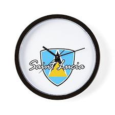 saint lucia1 Wall Clock