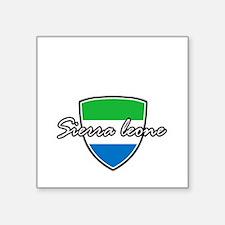 "sierra leone Square Sticker 3"" x 3"""