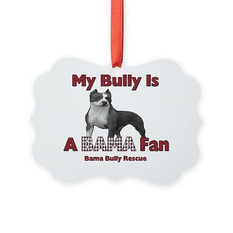 Bama Pit Bull Picture Ornament