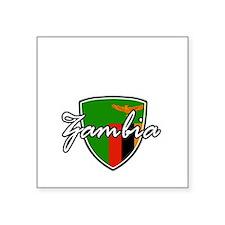 """zambia1 Square Sticker 3"""" x 3"""""""