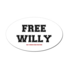 FREE WILLY - WARM WEATHER 20x12 Oval Wall Decal