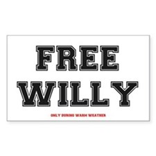 FREE WILLY - WARM WEATHER Decal