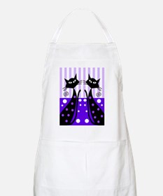 Eve black cat shoes purple Apron