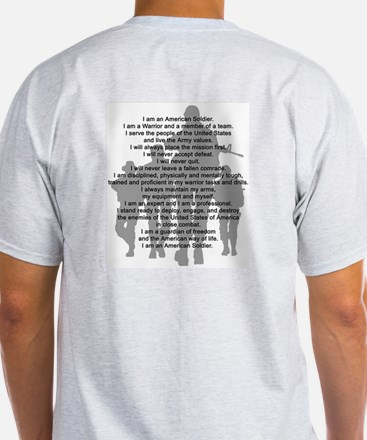 Soldier's Creed, National Gua Ash Grey T-Shirt